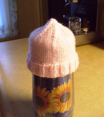 Preemie hat on cup