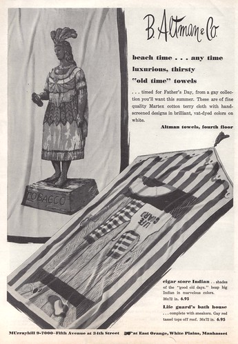 Vintage Ad #446: Indian and Lifeguard Beach Towels