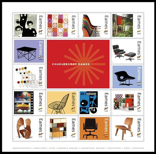 Charles & Ray Eames stamps