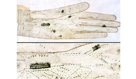 Strange Historical British Glove Map