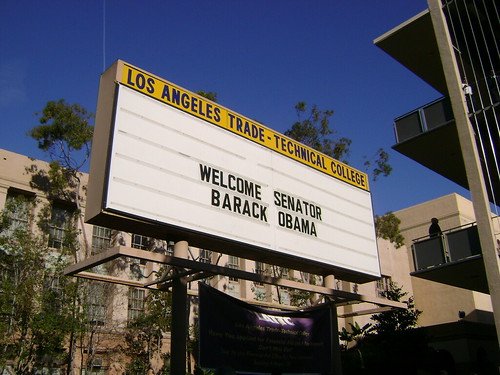 LA Trade Tech welcomes Senator Obama