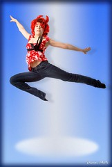 Flying Demon (MissSmile) Tags: blue red portrait studio fun flying creative demon 2008 betterthangood betterthatgood cleverandcreative okasana