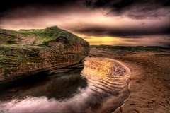 Red Rock (BarneyF) Tags: color reflection water landscape sand sandstone redrocks hdr wirral merseyside hoylake 7exp mywinners aplusphoto diamondclassphotographer proudshopper