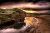 Red Rock (BarneyF) Tags: color reflection water landscape sand sandstone redrocks hdr wirral merseyside hoylake 7exp mywinners aplusphoto diamondclassphotographer proudshopper