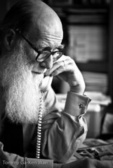 Peter S. Meadows (TGKW) Tags: portrait people man beard university phone glasgow meadows peter professor