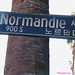 Normandie Street Sign