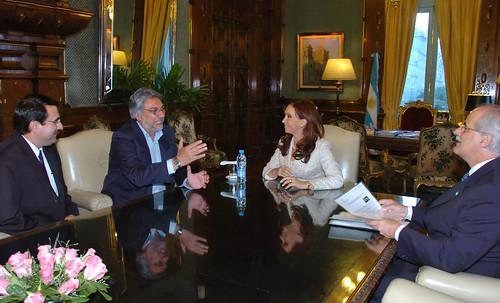 Cristina Fernández recibió a Lugo