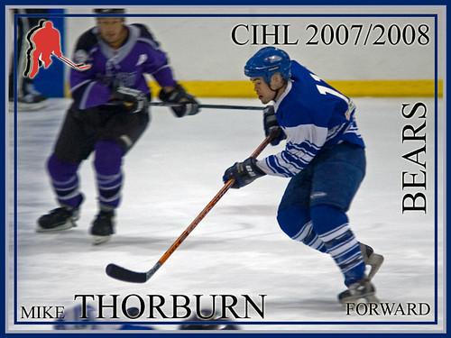 Mike Thorburn hockey card
