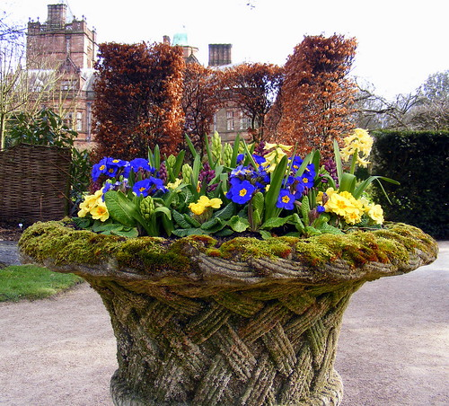 Wicker Patterned Urn