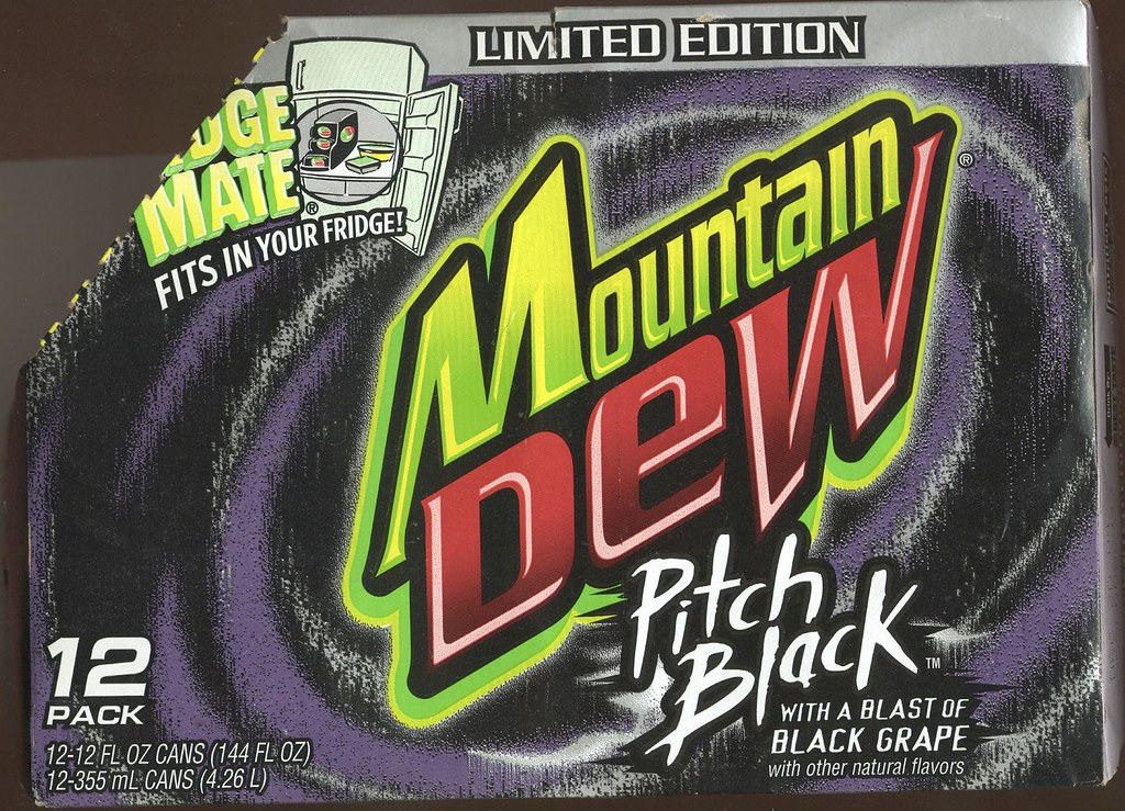 Mt Dew Pitch Black fridge pack