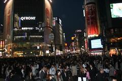 Shibuya. Tokyo Japan - 渋谷 日本 (CharleyMarley) Tags: city japan night buildings lights tokyo neon flourescent 日本 nippon metropolis 東京 渋谷 japon crowds nihon peoplewatching crowded japan2008