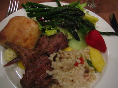 dinner (rick) Tags: party food hotel berkeley reception asparagus orion lamb jew jewish 2008 barmitzvah bancroft bancrofthotel