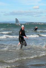 Trudy emerges (Angie NZ) Tags: ocean swimming trudy kingofthebays