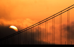 sun and bridge