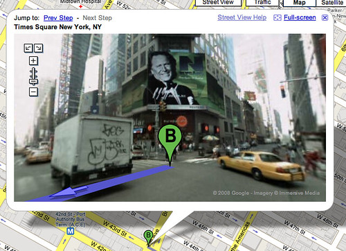 Street Views on Google Driving Directions