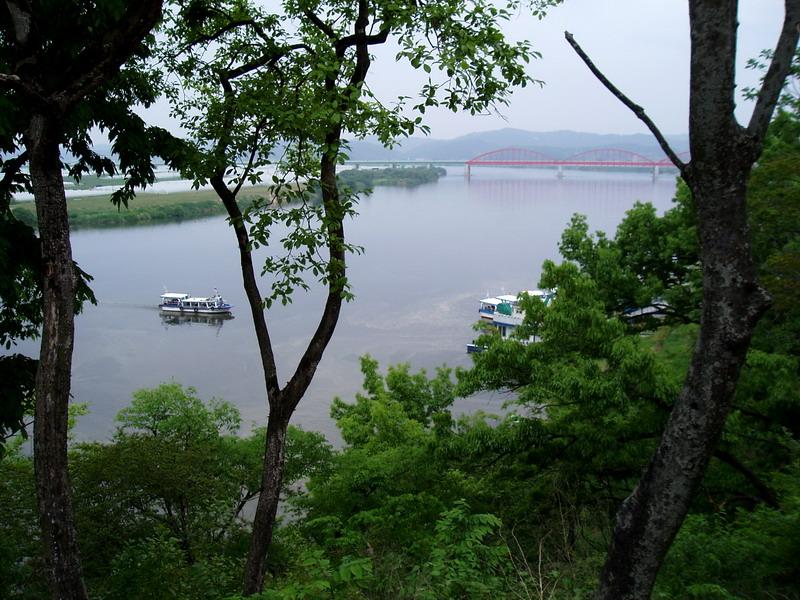 Geumgang River. View from Subukjeong Pavilion