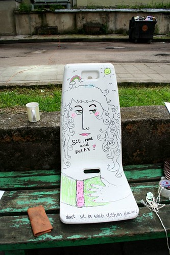 a special chair for zine reading made by asia