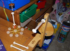 Tinker Toy spindle lazy kate