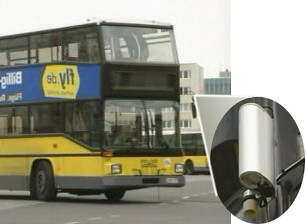 German Bus With Environmental Sensors Fitted