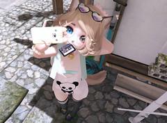 90's (Yukiterudiary) Tags: kemono m3 gacha phone sl tamagosenbei 90s pack mesh cute anime neko second life kawaii truth