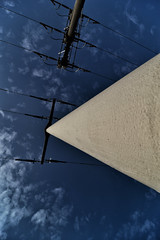 Powerline (BKFofOF) Tags: strom tokina1224 d610 nikon beton mast kabel überland power himmel snapseed