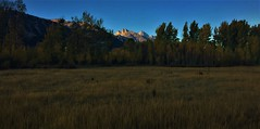 Last Light (The VIKINGS are Coming!) Tags: tetons wyoming alpine resort mountains forest landscape sky cowboys