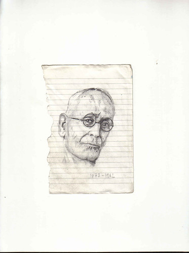 Zavier Ellis 'Mad Genius #1', 2006 Pencil on paper 14.8x10.7cm
