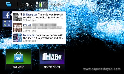 Facebook Widget on Nokia N900