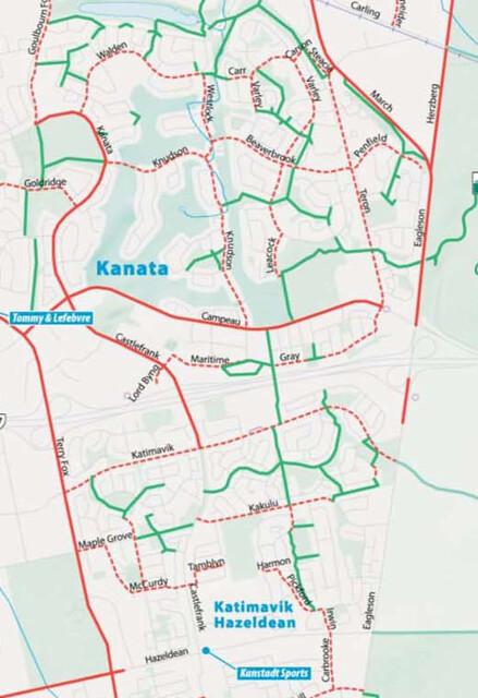 Biking in Kanata series maps Post Industrial Brambles