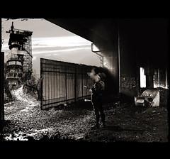 en dessous de ce qui circule... (laboratoire de l'hydre) Tags: old city urban blackandwhite terrain collage architecture photoshop noiretblanc jazz photomontage pont horloge temps paysage exploration vague ville abandonned ancien dsert banlieue bande fume petters fantastique priphrique astronomie schuiten gravure imaginaire friche dessine cits obscures scenographie sheiten