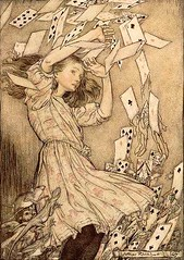 "Arthur Rackham's ""Alice"" (rosewithoutathorn84) Tags: illustration cards aliceinwonderland lewiscarroll arthurrackham"