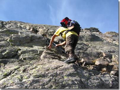 Passaggi di semplice arrampicata