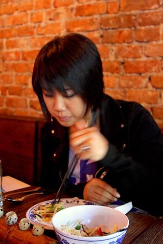 Jessica eats