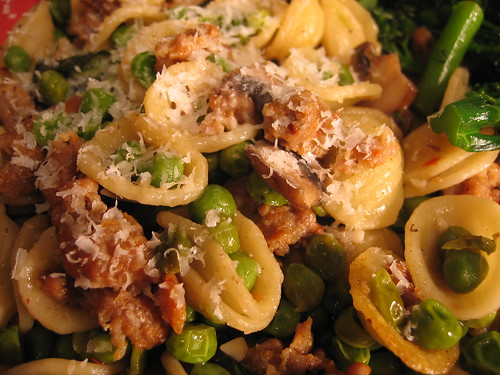 Orecchiette with Hot Italian Sausage