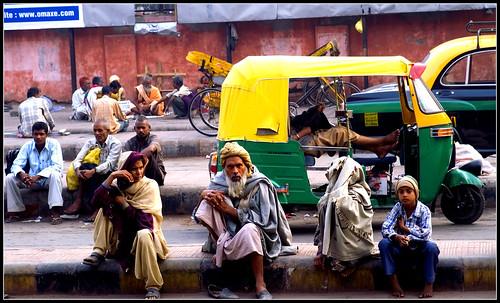 Outside Old Delhi train station