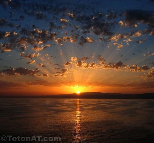 Sunrise off the coast of Italy