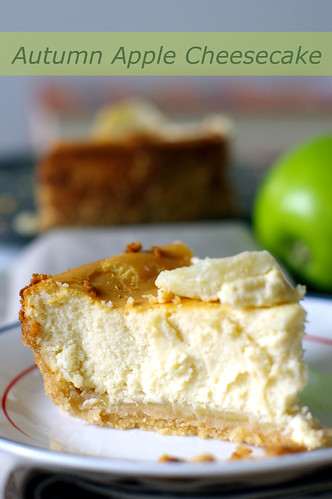 autumn apple cheesecake