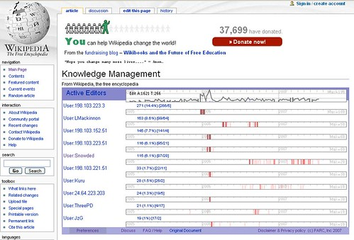 Wikidashboard: Knowledge management