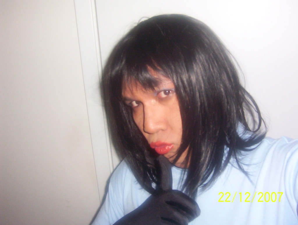 Transexual transvestite kissing loving latino