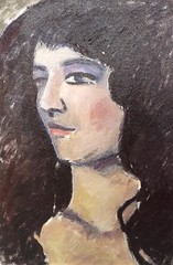 Sketch portrait (superpralinix) Tags: woman portraits donna femme peinture oiloncanvas accademia pittura