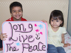 A MESSAGE OF PEACE TO ALL IN THE WORLD FROM CHILDREN (welltaken pictures) Tags: uk pakistan usa afghanistan love smile children war europe peace iran islam iraq jesus peaceful newyear antiwar bible marry mohammad torah nohate worldpeace quran nowar welltaken longlivepeace