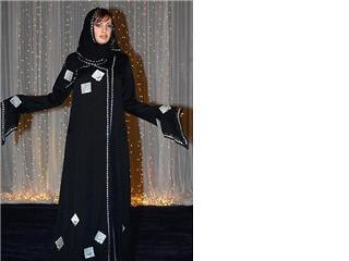 Emirati Silver Square Abaya of Muslim Fashion