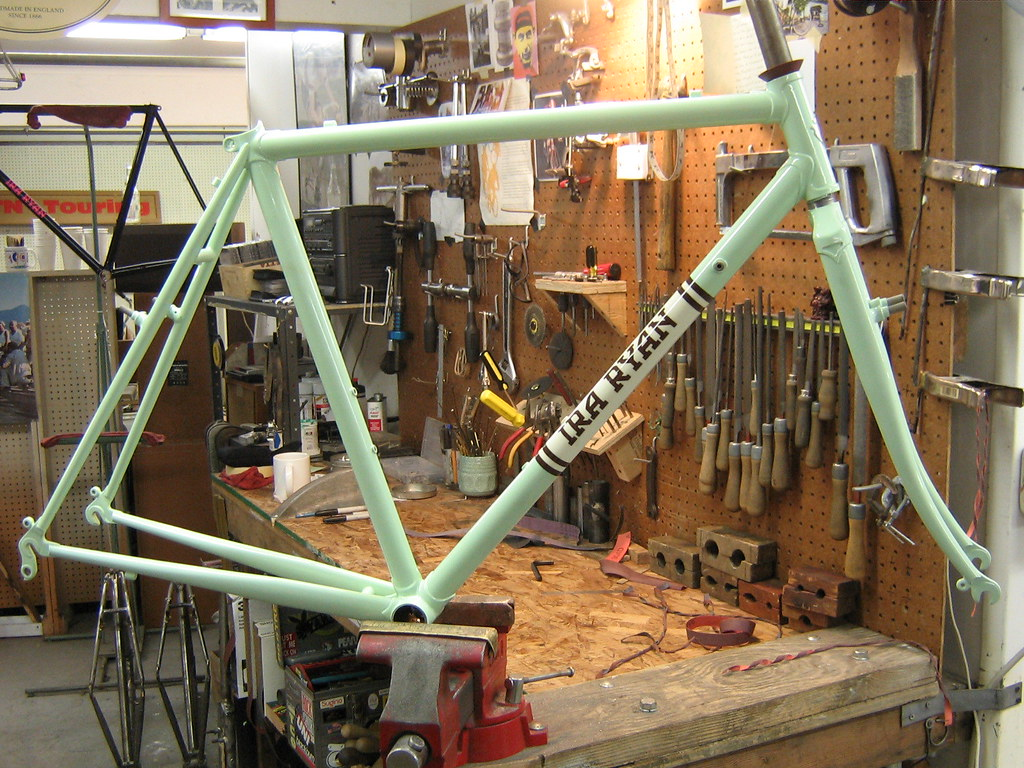 Another beautiful Ira Ryan cyclocross frame.