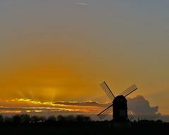 Sunset Windmill (algo) Tags: trees sunset windmill clouds photography topf50 bravo topv1111 topv999 topv777 rays algo topf100 sunbeams 100f pitstone magicdonkey 50f 200850plusfaves