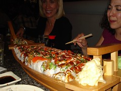 Giant Sushi boat of Yum (.Hollie.) Tags: fish love japan sushi boat yum rice tummy eggs steven spicy eel wasabi tuna hollie nishiki glassner keylon srk1941