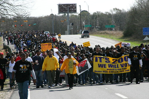 Marching for voting rights in Texas (photo by Ken Basart)