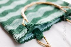 the green wave bag (Crochet Genie) Tags: green bag waves pattern crochet wave bamboo greens zig handbag zigzag handles zag crochetgenie crochetgeniecom