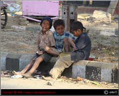 Childhood In The Streets (| JERRY |) Tags: street india children joseph friendship sony jerry gurgaon h9 malayalikkoottam