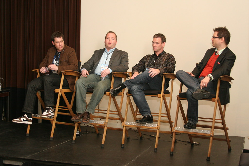 The panel discusses interactive marketing.
