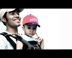 Father and son (sharaff) Tags: boy red portrait baby love me smile eyes nikon friend father think son cap moment fleeting maldives aiko lightroom extender 2x aik 105mm ashraf shoken d80 sharaf sharaff